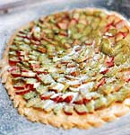 open-faced rhubarb tart picture