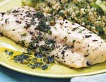 herb-roasted sea bass with salsa verde picture