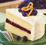 blueberry and orange layer cake with cream cheese frosting picture