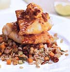panfried red snapper with chipotle butter picture