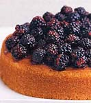 buttermilk cake with blackberries and beaumes-de-venise picture