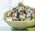 potato and pea salad with chive aioli picture