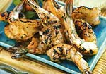 grilled shrimp with roasted garlic-herb sauce picture