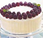 spice cake with blackberry filling and cream cheese frosting picture