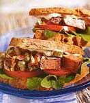steak salad sandwiches with capers picture