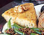 polenta triangles with rosemary and walnuts picture