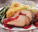 roast pork tenderloins with cranberry-port sauce picture