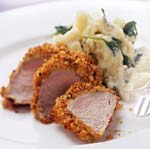 roasted pork tenderloin with sage corn bread crust picture