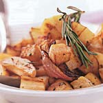 sauteed turnips and parsnips with rosemary picture