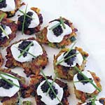 sweet-potato pancakes with caviar picture