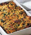 southwest corn bread stuffing with corn and green chilies picture