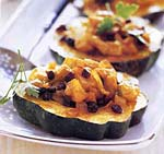apple-filled acorn squash rings with curry butter picture