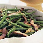 green beans with shiitake mushrooms picture
