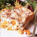 butternut squash and hazelnut lasagne picture