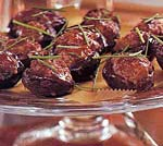 plum-glazed stuffed shiitake mushrooms picture