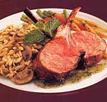 rack of lamb with chutney-mint glaze picture