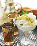 pineapple and banana couscous pudding picture