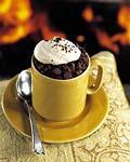 chocolate-espresso lava cakes with espresso whipped cream picture