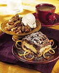 sour cream-orange coffee cake with chocolate-pecan streusel picture