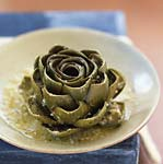 whole stuffed artichokes braised in white wine picture