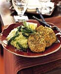 baked herb-crusted chicken breasts picture