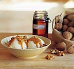 vanilla ice cream with maple-walnut sauce picture