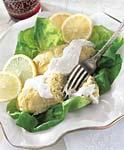 smoked whitefish gefilte fish with lemon-horseradish sauce picture