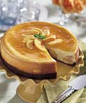 peach cheesecake with gingersnap crust picture
