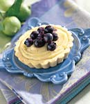 blueberry tartlets with lime curd picture