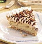 dulce de leche ice cream pie with mocha fudge sauce picture