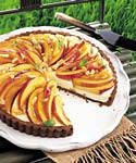 nectarine and mascarpone tart in gingersnap crust picture