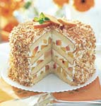 coconut-peach layer cake picture