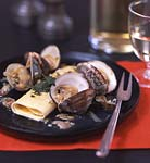pumpkin cannelloni with clams and sage brown butter picture