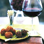 wine and ham croquettes picture