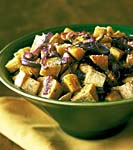 roasted sweet potatoes and onions with rosemary and parmesan picture