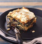 mexican poblano, spinach, and black bean lasagne with goat cheese picture