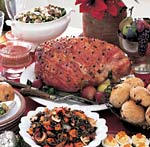 baked ham with marmalade-horseradish glaze picture