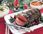 black pepper-crusted standing rib roast au jus picture