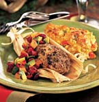 spice-rubbed pork tenderloins in corn husks with cranberry-avocado salsa picture