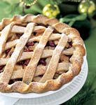 apple and dried-cherry lattice pie picture