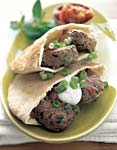 turkish lamb pitas with tomato sauce picture