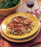 campanelle pasta with parsley butter picture