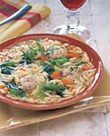 escarole and orzo soup with turkey parmesan meatballs picture