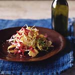 radicchio, frisee, and artichoke salad picture