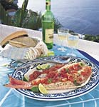 grilled whole fish with roasted tomato-chile sauce picture