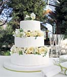 white chocolate and lemon wedding cake picture