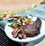 barbecued cowboy steaks picture