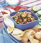 peach and cucumber salsa picture