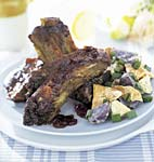 barbecued beef ribs with molasses-bourbon sauce picture