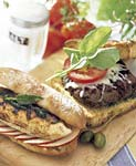 grilled chicken sandwiches with sage pesto and apples picture